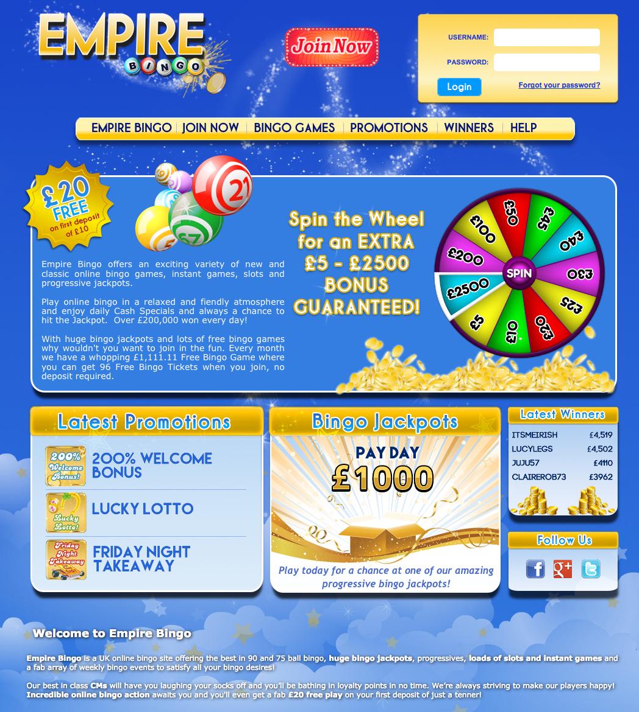 Empire Bingo Lobby