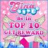 Top 10 players get rewarded each month at Gina Bingo